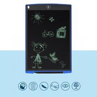 tableros mini lcd al por mayor-Tableta digital portátil de 12 pulgadas Mini LCD Tablero de dibujo de la pantalla de escritura de la tableta + Stylus Pen almohadilla gráfica para niños