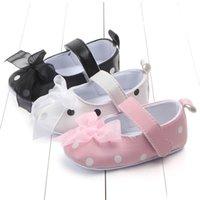 säuglinge gehen schuhe großhandel-Babyprinzessin beschuht zuerst gehende Schuhe des kleinen Mädchens, die gehende weiche alleinige Antibeleg-Säuglingsgehenschuhe A gehen