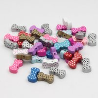 Wholesale diy tie clip - 21x11mm Wooden Beads 30pcs Random Colors Lovely Tie Wood Beads Spacer Beading for DIY BabyToys & Pacifier Clip