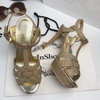 saltos personalizados para mulheres venda por atacado-2018 Custom Celebrity Shoes Tribute patentes de couro Sandálias Gladiador sexy plataforma sandálias de salto alto Mulher Sandalias Mujer