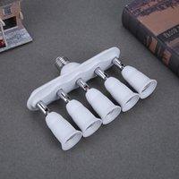 e26 e27 bazlı ledli aydınlatma toptan satış-E27 / E26 5 E27 / E26 LED lamba bankası adaptörü Dönüştürücü Ampul Adaptörü Esnek Splitter Sarkıt tutucu Beyaz aydınlatma armatürü