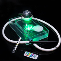 gece ışık kitleri toptan satış-Yeni Elektronik Gece Lambası Renkli Nargile Nargile Sigara Boru Kiti Yenilikçi Tasarım Şeffaf Akrilik Savurgan Keyfini Yüksek Kalite