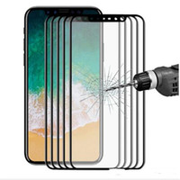 Wholesale Iphone Screen Protector Bag - Glossy Carbon Fiber 3D Curved Edge Tempered Glass Screen Protector For iPhone 8 7 6 6S Plus HD Clear Tempered Glass DHL with OPP bag