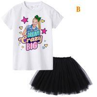 Wholesale girls pc tutu resale online - 1Y To Y Jojo Siwa Girl Summer Clothing Set Fashion Kids Clothes Suit Tops Tutu Skirt Dress Baby Roupas Infantis Menina MMA901