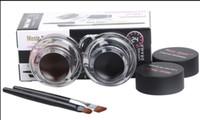 Wholesale Powder Eyeliner Pencil - New Music Flower Makeup Eyeliner Gel & Eyebrow Powder Palette Waterproof Lasting Smudgeproof Cosmetics Eye Brow Enhancers