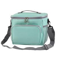 isolierte kühler-lunchboxen großhandel-Womens große Mittagessen Taschen für Erwachsene Männer große Tote Kühler Lunch Bag isolierte Box Extra groß