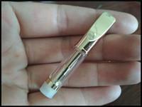 proveedores de vaporizador al por mayor-Oem Oil Vaporizer Suppliers Silver Gold Vape pluma vaporizador portátil Bobina doble Atomizador 510 hilos Metal Tips vidrio co2 cartucho