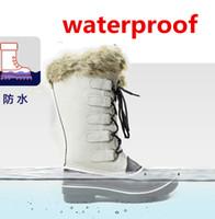c17dfff0 SWYIVY Женщина Снежные сапоги Genuien Leather -30 Degree Водонепроницаемые  женские теплые утиные туфли High Fur Velvet Warm Duck Snow Boots 41