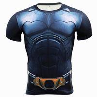 superheld kompressionsstrumpfhosen großhandel-New Comic Superhero Compression Hemd Captain America Iron Man Fit Eng Gym Bodybuilding T-Shirt