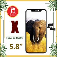 Wholesale panel free online - For iPhone X Perfectly OEM OLED Screen Grade A Display Touch Digitizer Screen Full Assembly Replacement Inch LCD Free DHL