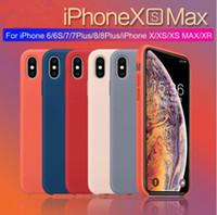 étui en silicone d'origine iphone achat en gros de-Coque en silicone d'origine officielle pour iphone XS MAX XR X Cas pour apple pour iPhone 7 8 6S Plus Retail Cover case