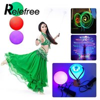 Wholesale hands props for dancing for sale - Group buy Relefree LED POI Thrown Glow Balls for Belly Dance Party Dancing Level Hand Props