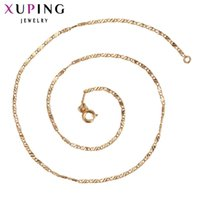 Wholesale Fashion Jewelry Deals - whole sale11.11 Deals Xuping Fashion Necklace New Design Big Long Necklace Gold Color Plated Women Chain Jewelry Top Sale 42565