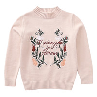 Wholesale knitted fashionable clothing online - New Children s Sweater Girls clothing Kids O Neck Sweaters Girl s Fashionable Style outerwear pullovers Knitted clothes