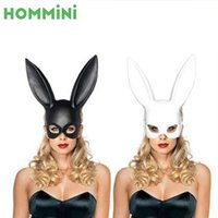 Wholesale Sexy Bunny Costume Cosplay - Cute Rabbit Ears Mask Carnival Cosplay Costume Party Sexy Bunny Long Ears Party Masquerade Props Halloween Party Decoration
