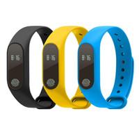 ingrosso anello di frequenza cardiaca-M2 braccialetto di fitness cardiofrequenzimetro fitness tracker anello braccialetto intelligente orologio da polso monitor della frequenza cardiaca OLED touch screen