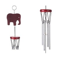 Wholesale metal yard for sale - Group buy Wooden Elephant Shape Windbell Outdoor Living Yard Garden Decor Hanging Aeolian Bells Practical Cute Wind Chime New Arrival bz X