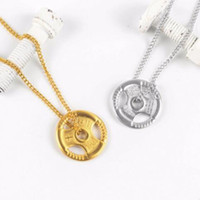 Wholesale men's necklaces for sale - designer jewelry couple s necklace tianium steel original barball tablet for women men fitness sports pendant necklace hot fashion