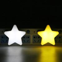 lâmpadas estrelas de energia venda por atacado-Modern Household Supplies Energy Saving Star Light Forma de Estrela LED Lâmpada de Indução Nightlight Frete Grátis LX4043