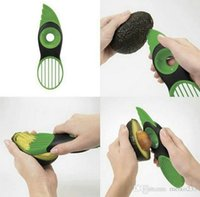 Wholesale New Good Grips IN Avocado Slicer With Knife Pitter Peeler And Scoop Kitchen Utensil Tool Scoop fruit knife slicer Peeler Cutter Fruit
