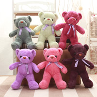 Wholesale giant teddy bear online - Free EMS Color cm inch Giant shell giant teddy bear Valentine s Day holiday gift wedding decorations bear Plush Toys B