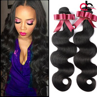 Wholesale Pure Hair Colour - Malaysian Body Wave Human Hair Extensions Malaysian Hair Dyeable Natural Colour Double Weft Wavy Hair Extensions NoTangle Wholesale