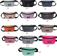 Wholesale waist bags colors resale online - Colors Pink Printed Letter Fanny Pack Beach Travel Cosmetics Shoulder Bag Pink Waist Bag Chest Bags Waistpacks