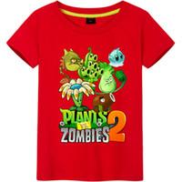 vs kleidung großhandel-Pflanzen Vs Zombies Baumwolle Jungen T-shirts 2018 Neue Sommer Stil Kinder Kleidung Kinder Kleidung Tops Neue Mode Fahrrad Muster Jungen T-shirts