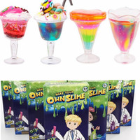Wholesale toy tools for kids online - Make Your Own Slime for Kids DIY Blowing Bubbles Fun Toys jelly clay Sensory Play Science Crystal Mud Educational Tool color KKA4492