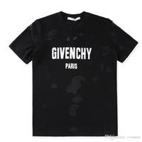 Wholesale dot shirt women - Brand design SS18 Summer Street wear Europe Paris Fan Made Fashion Men High Quality Broken Hole Cotton Tshirt Casual Women Tee giv T-shirt