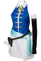 traje de cosplay lucy venda por atacado-Cosplay Fairy Tail Nova Temporada Lucy Costume Dress