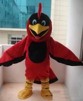 kırmızı kuş çizgi filmi toptan satış-2018 Sıcak satış EVA Malzeme Kask Kırmızı Kuş Kartal Maskot Kostümleri Karikatür Giyim Doğum Günü partisi Masquerade