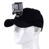câmera de beisebol venda por atacado-Câmera do esporte GoPro Acessórios Boné de Beisebol Da Lona Chapéu W / J-Gancho Buckle Mount Parafuso para GoPro HERO5 HERO4 Sessão