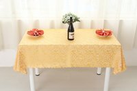 Wholesale Polyester Rectangle Tablecloths - B24-4 Plant Western Restaurant Feast Jacquard Tablecloths Rectangle Square Round Wedding Table Cloth Everything For The Kitchen