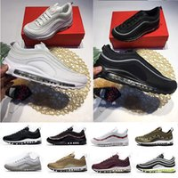 Wholesale Women Red Service - Best service Air 97 Undftd Undefeated PK ma Triple white Running shoes grey Silver Bullet Mens trainer Women running Shoe trainer with box