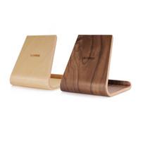 деревянные колыбели оптовых-SAMDI портативный березовый деревянный телефон Tablet стенд держатель док-станция Колыбель для iPhone10 8 7 Plus iPad mini 4