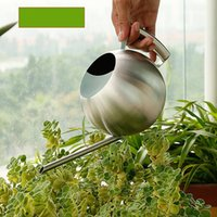 Wholesale garden watering cans for sale - Group buy Household Sturdy Watering Pot Stainless Steel Round Resistance To Fall Garden Water Cans With Handle Long Spout Waterings Equipments sh Y
