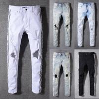 Wholesale panel 42 online - New arrival famous brand men jeans fashion design ripped jeans man plus size good quality pants
