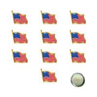 ingrosso piedini americani di bandiera-commercio all'ingrosso il distintivo della bandiera del perno della spilla della bandiera degli Stati Uniti d'america per il perno della bandiera americana della campagna
