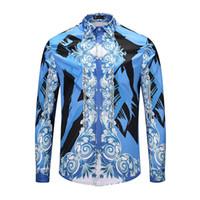 2018 neue Männer Phantasie Hemd Mode-Design 3D-Druck-Shirt Marke Kleidung  Casual Baumwolle dünnes Hemd Männer asiatische Größe M-2XL e5bc6bc11e