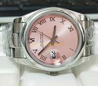 rosa fuerte relojes mujeres al por mayor-Estilo libre del envío reloj de las mujeres de la manera del dial rosado M279160 279160 31 mm 36 mm de acero inoxidable relojes mecánicos automáticos reloj venta caliente