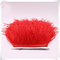 cabello suelto al por mayor-Pluma Avestruz Paño de Pelo Edge Falda de Encaje Ostriches Fringe Trim Feather For Dresses Accesorios de Vestir 16 8wc ff