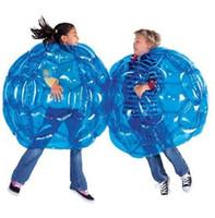 şişirilebilir gövde topları toptan satış-Şişme Vücut Tampon Topu PVC Hava Kabarcık 90 cm Açık Çocuk Oyun Kabarcık Tampon Topları Açık Etkinlik 4 renkler C4189