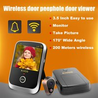 Wholesale Door Monitor Apartment - Hot sale KDB307A Wireless Door Eye Peephole Door Viewer Wireless Video Doorbell Camera with 3.5 Inch Monitor for Home Apartment ann