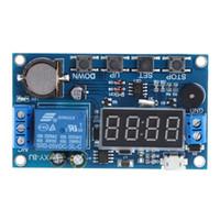interruptor de relé de 24v al por mayor-Interruptor de retardo del temporizador de ciclo de disparo 12V 24V Módulo de interruptor de relé 24H Control de temporización