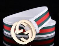 Wholesale G 27 - 2018-G Big large buckle genuine leather belt with box designer men belts women high quality new luxury brand belt free shipping