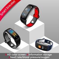 monitoramento remoto do pc venda por atacado-Q6 Pulseira Inteligente Heart Rate Monitoramento de oxigênio no sangue pulseira de fitness Mensagem Lembrete de Chamadas IP68 À Prova D 'Água Câmera Remota 12 pc / lote