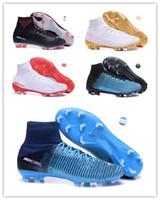 Wholesale denim canvas shoes boy - 2018 new Mercurial Superfly SuperflyX 6 VI Elite TF IC Mens Women Boys Soccer Shoes CR7 Cristiano Ronaldo 360 Football Boots Cleats