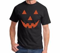 ingrosso divertente halloween costumi donne-T-shirt da donna Tops Funny Halloween T Shirt Pumpkin Face Easy Costume Fun Tee Lady Magliette Dropshipping