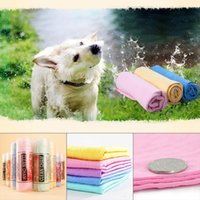 Wholesale fast puppy - Pet Magical Drying Towel , Puppy Dry Fast Fiber Towel in Bucket big size Dog Cat Water Absorption Towel Quick Drying BBA105